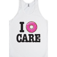 I Donut Care-Unisex White Tank