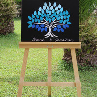 Custom Wedding guestbook alternative 3D Wedding guest book Personalized Rustic Wedding guestbook Leaves wedding guest book Tree Guest book