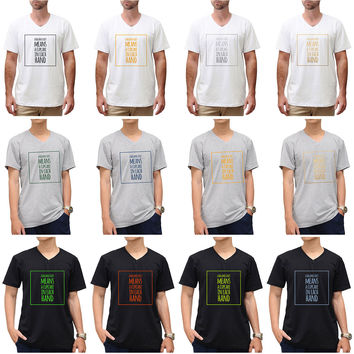 """Funny Quote"""" A Balance Diet Means…"""" Vynil Print Color Round Neck T-shirt MTS_01"""