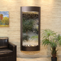 Adagio Pacifica Waters Glass Reflections Wall Fountain