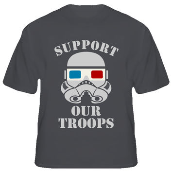 Unisex 3D Glasses Support Our Troops T-Shirt
