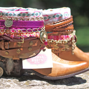 brand NEW any style & size boots Upcycled style REWORKED new COWBOY Boots - boho boots - western boots
