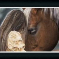 In Their Own World by Lesley Harrison Girl With Her Horse Framed Art Print Picture Wall Decor