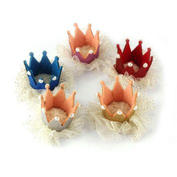 New    Girl Crown Pearl Princess Hair Clip Party Accessories Jecksion #LWN