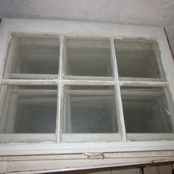 Vintage Window Panes Frames . WHITE with GLASS by beautynumber2