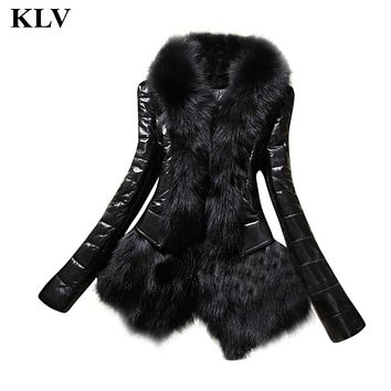 2016 New Fashion Winter Women's Cotton Parka Short Faux Fur Collar Hooded Coat Lady Warm Long Sleeve Quilted Jacket Nov28