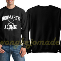 Hogwarts Alumni Sweatshirt Harry Potter Black Grey and White Color Unisex Sweatshirts