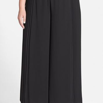 Plus Size Women's Alex Evenings Pleated Side Wide Leg Pants,