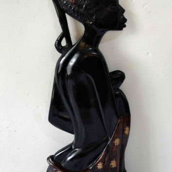 African Art, African American Art, Mother Africa, Wood Carvings, Afrocentric Art, Authentic African Art, African Woman