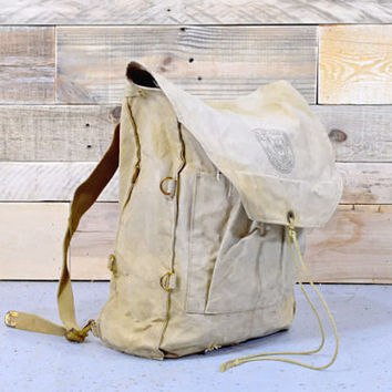 Vintage Boy Scout Backpack, Boy Scouts of America, Rucksack, Antique Boy Scouts, BSA Backpack, No 573 Haversack, Vintage Camping