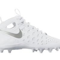 Nike Huarache 5 Youth Lacrosse Cleats - White/Silver