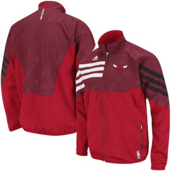 adidas Chicago Bulls Red On-Court West Full Zip Jacket