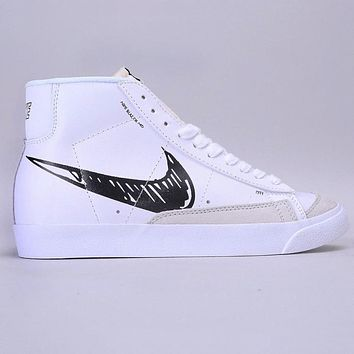 Nike Blazer Mid New Sale Couple Sketch High-Top Sneakers