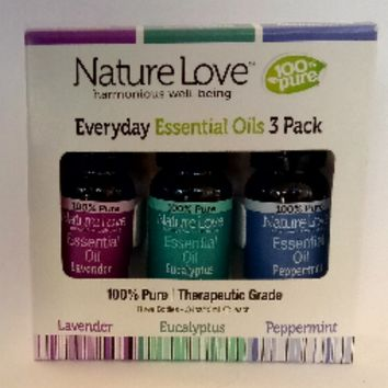 Nature Love Everyday Essential Oils 3 Pack