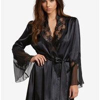 Charmeuse Lace Robe