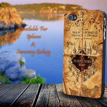 Marauder's Map,Harry Potter - Print on hard plastic for iPhone case. Please choose the option.