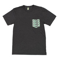 Wave Pocket Tee (Heather Coal)