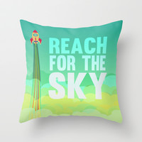 reach for the sky.. toy story.. woody Throw Pillow by studiomarshallarts