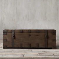 Heirloom Silver-Chest Coffee Trunk
