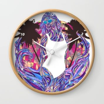 Cali for the Summer Wall Clock by Ben Geiger