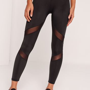 Sexy Workout  Mesh Panel Workout Leggings