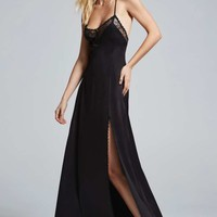 #NastyGalXCourtneyLoveLove, Courtney by Nasty Gal Once and Destroy Satin Maxi Slip