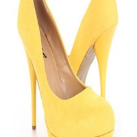 Yellow Faux Suede Round Closed Toe Platform Pump Heels @ Amiclubwear Heel Shoes online store sales:Stiletto Heel Shoes,High Heel Pumps,Womens High Heel Shoes,Prom Shoes,Summer Shoes,Spring Shoes,Spool Heel,Womens Dress Shoes,Prom Heels,Prom Pumps,High Hee