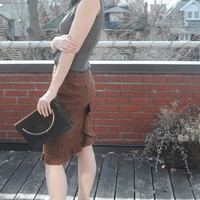 1960's BROWN & GOLD PURSE