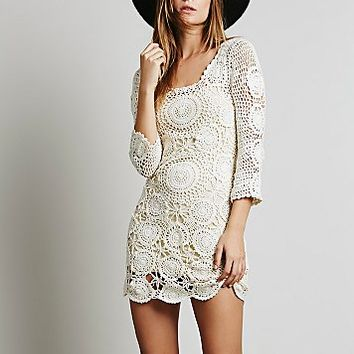 Spell Womens Havana Crochet Mini