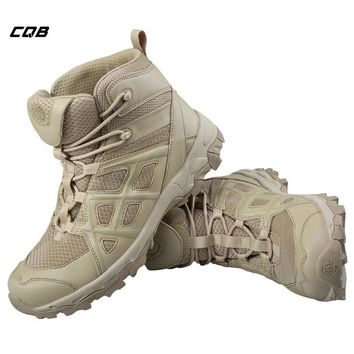 CQB Outdoor Sports Tactical Military Ankle Boots for Camping Hunting Men's Shoes Wear-resistant mountaineering Trekking Boots