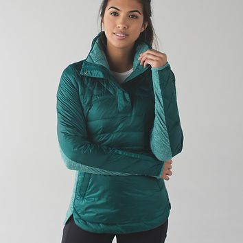 down for a run pullover | women's long sleeve running tops | lululemon athletica