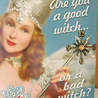 Wizard of Oz Clock Decor, Unique Wall Clocks, Girlfriend Gift,  Best Friend Gift, Sister Gift, Glenda The Good Witch