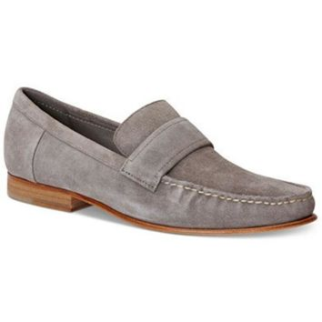 DCCK8BW CALVIN KLEIN MENS BARON SUEDE LOAFERS