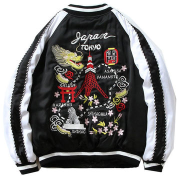 Tokyo Embroidered Bomber Jacket by RB