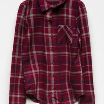 FULL TILT Plaid Girls Flannel Shirt