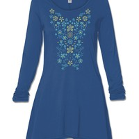 NEW! Embroidered Garden Organic Cotton Tunic Top