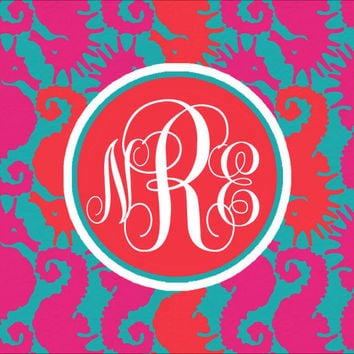 iPad Monogram Wallpaper Lilly Pulitzer Pattern Hold Your Horses