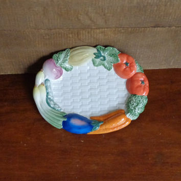 Vintage Fitz And Floyd Veggie Platter Vegetable by PopPawsPlace