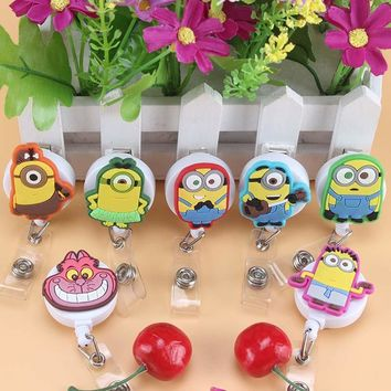 Foreign trade Mini lovelyCartoon Animal Retractable Badge Reel Student Nurse Exihibiton ID Name Card Badge Holder Office Supplie