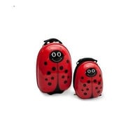 2 Piece Backpack Girls Lady Bug Lightweight Travel Roller Carry On Luggage Set