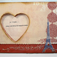 je t'aime  Eiffel Tower  French Paris  by ScrappyDoodads on Etsy