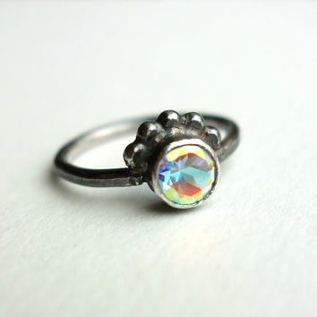 Prism Topaz Peacock Ring