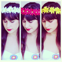 Flower crown. Music festival. Coachella. Flower headband.