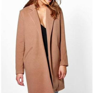 Isla Wool Look Coat | Boohoo