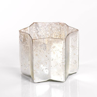 Star Candle Jar - Silver