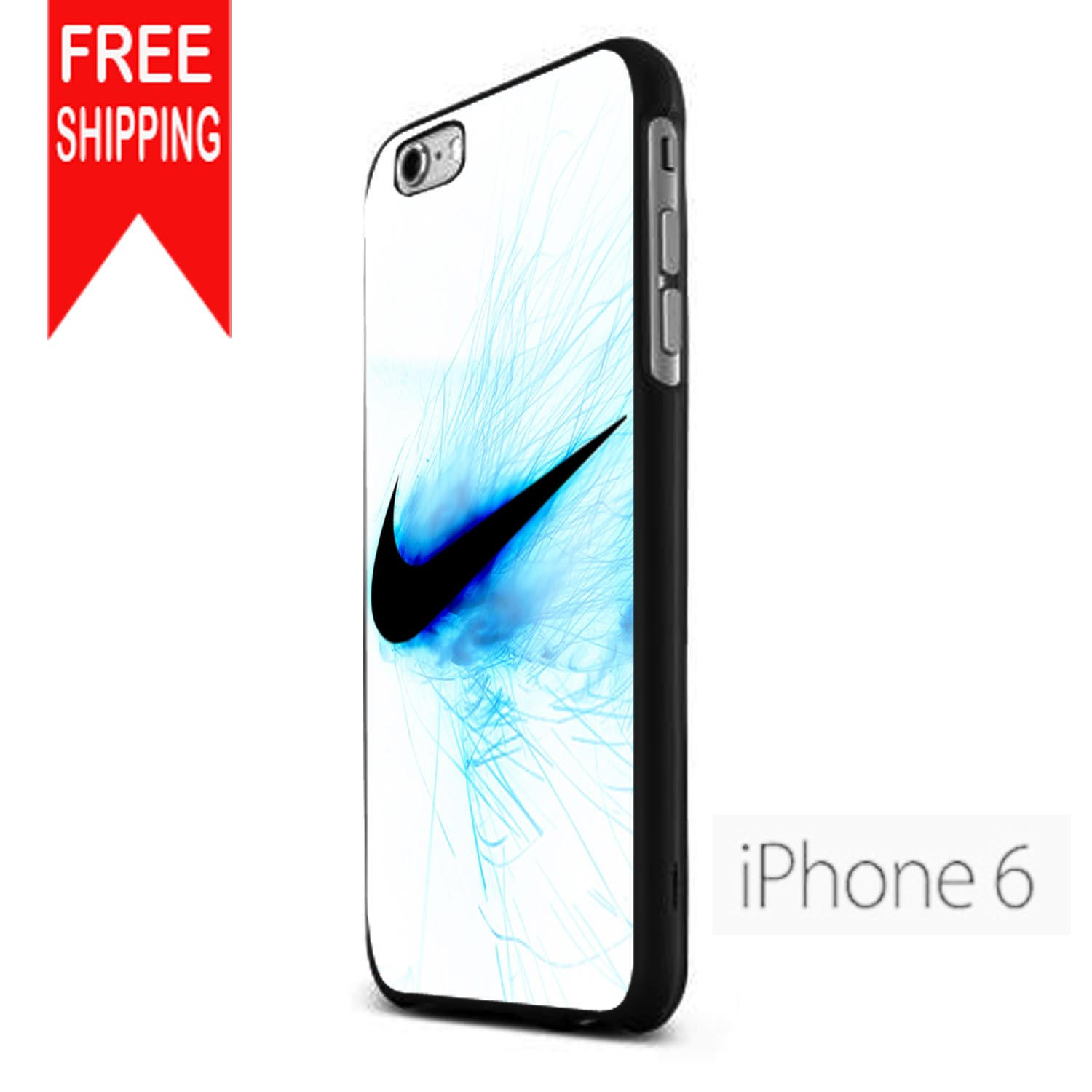 nike logo blue fire fdl iphone 6 case from iphone case. Black Bedroom Furniture Sets. Home Design Ideas
