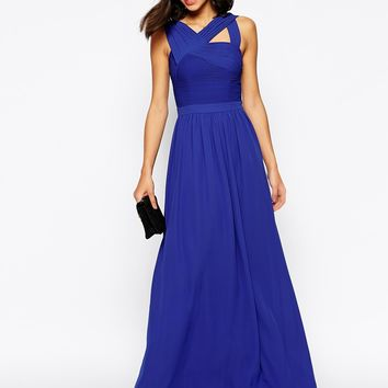 Warehouse Pleated Maxi Dress