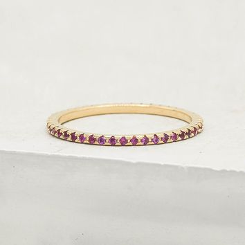 Eternity Ring - Gold + Ruby