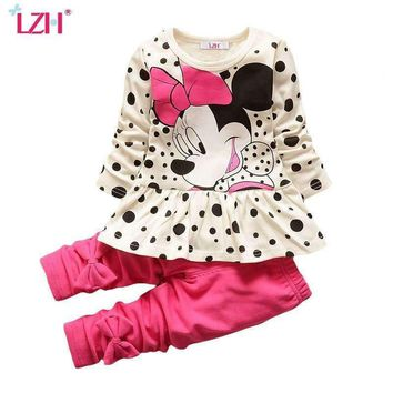 LZH Children Clothes 2017 Autumn Winter Kids Girls Clothes Set T-shirt+Pant Outfits Girls Sport Suit Toddler Girls Clothing Sets