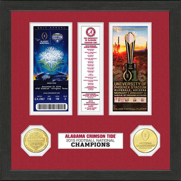 Alabama 2015 College Football National Champions Ticket Collection